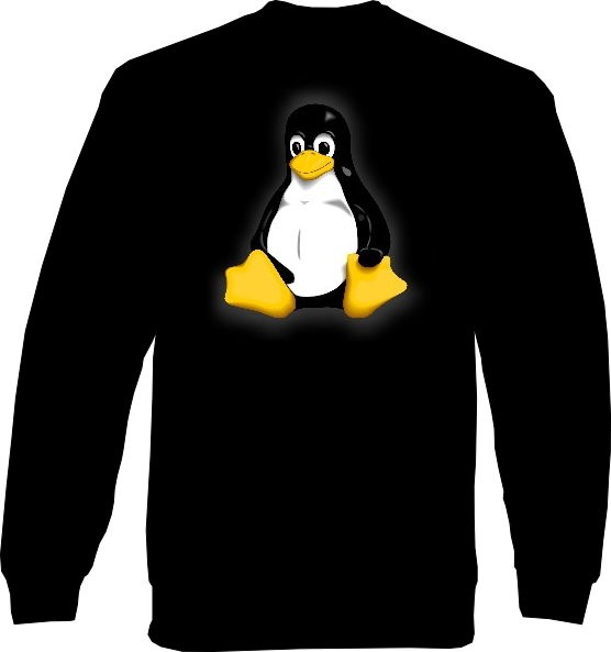 Sweat-Shirt - Linux Pinguin