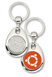 Schlüsselanhänger - Metall - ubuntu Logo - Einkaufswagen-Chip