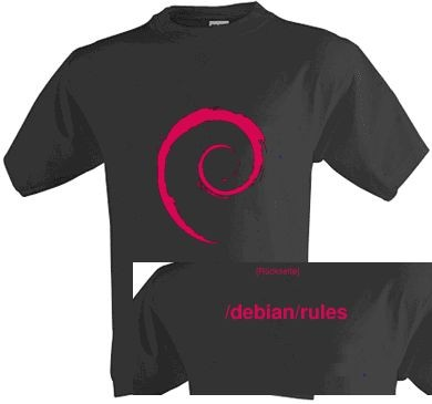 T-Shirt - Debian rules