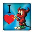 PC-Sticker - I love BSD
