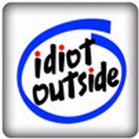 PC-Sticker - idiot outside