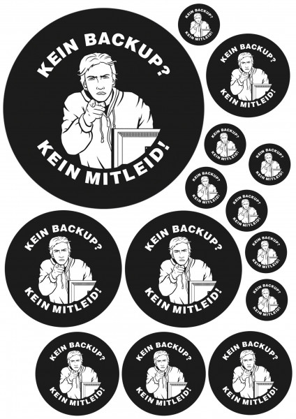 Maxi-Sticker - Kein Backup - Kein Mitleid A4