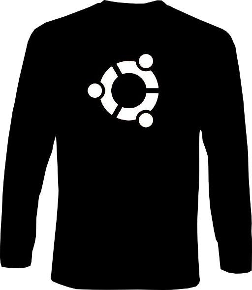 Langarm-Shirt - ubuntu Logo