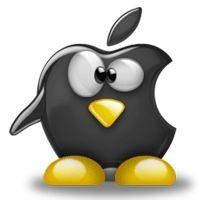 Notebook-Sticker - Tux Apple