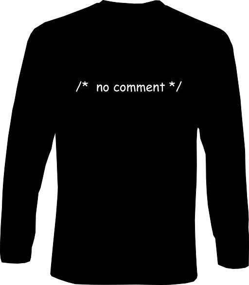 Langarm-Shirt - no comment
