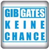 PC-Sticker - Gib Gates keine Chance