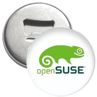 Flaschenöffner + Magnet - openSUSE