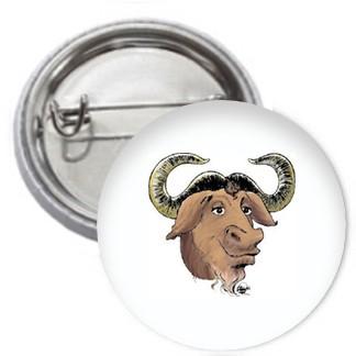 Ansteckbutton - GNU