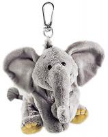 Schlüsselanhänger - Plüsch-Elefant