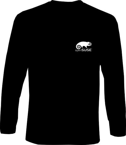 Langarm-Shirt - openSUSE - Klein