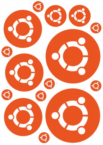 Maxi-Sticker - ubuntu Logo A4