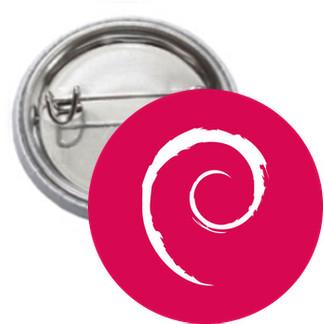 Ansteckbutton - Debian Logo