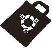 Baumwolltasche - kubuntu Logo