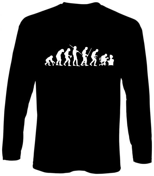 Langarm-Shirt - human evolution