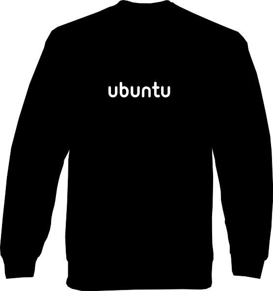Sweat-Shirt - ubuntu Schrift