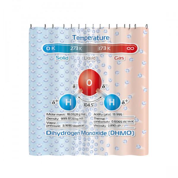 Duschvorhang Dihydrogenmonoxid