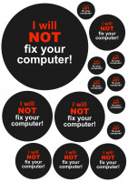 Maxi-Sticker - I Will Not Fix Your Computer A4