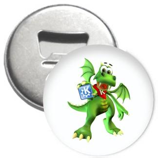 Flaschenöffner + Magnet - KDE Konqui