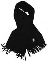 Fleece Schal - Tux - bestickt