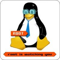 Notebook-Sticker - Root is watching you