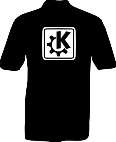 Polo-Shirt - KDE Logo - Rückseite