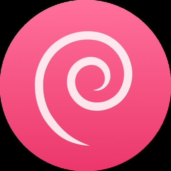Notebook-Sticker - Debian Logo einfach - rund