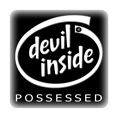 PC-Sticker - devil inside schwarz
