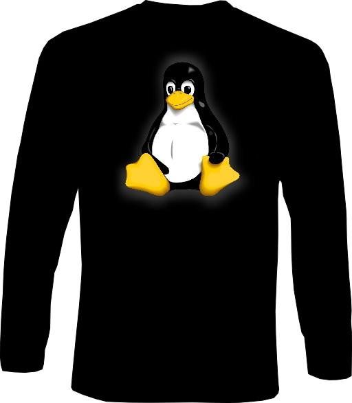 Langarm-Shirt - Linux Pinguin