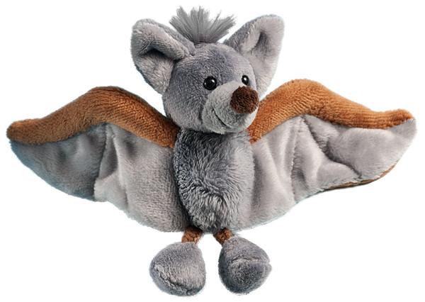 Plüsch-Magnet - Fledermaus - grau