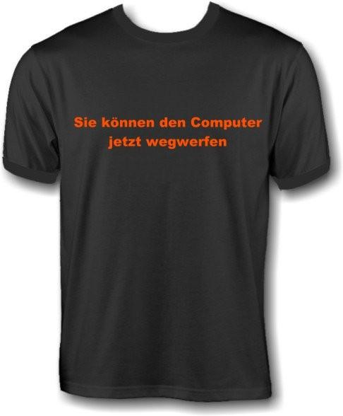 T-Shirt - Computer wegwerfen