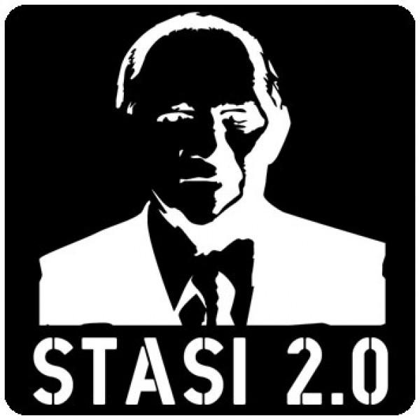 Tasten-Sticker - Stasi 2.0 - schwarz