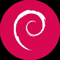 Notebook-Sticker - Debian Logo - rund
