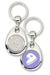 Schlüsselanhänger - Metall - Gentoo Logo - Einkaufswagen-Chip