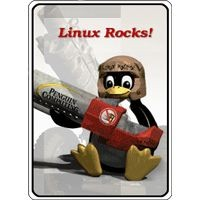 Notebook-Sticker - Linux Rocks