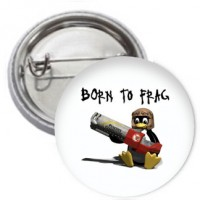 Ansteckbutton - Born to Frag