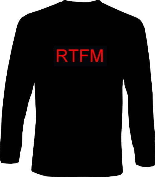 Langarm-Shirt - RTFM - read the ... manual