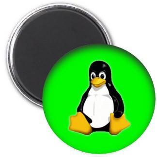 Magnet - Tux grün